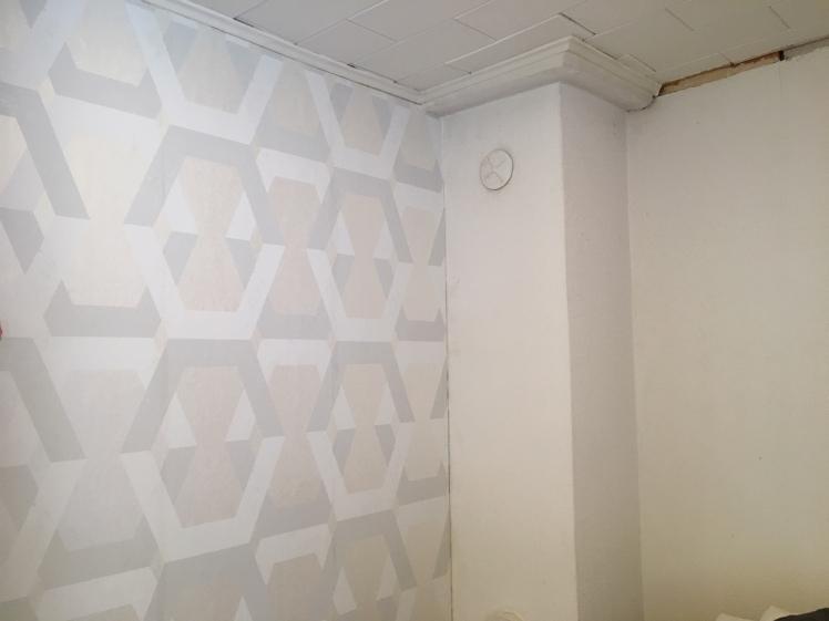 6_Vasen seinä tapetoitu